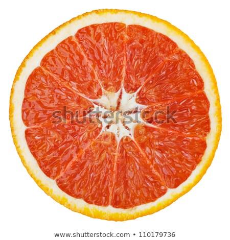 Doorsnede grapefruit geïsoleerd witte studio Stockfoto © boroda