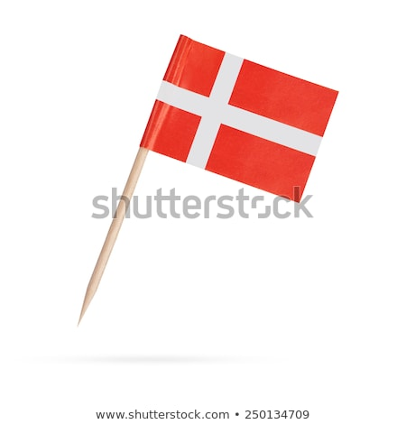 miniature flag of denmark isolated stock photo © bosphorus