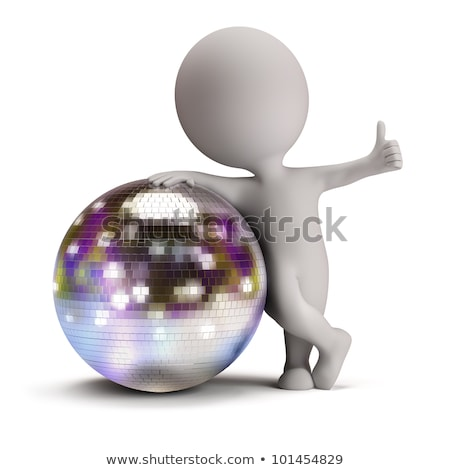 3D · klein · mensen · disco · ball · persoon · permanente - stockfoto © AnatolyM