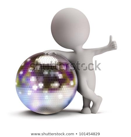 Stock fotó: 3d Small People - Disco Ball