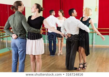 beautiful woman practising waltz stock photo © feedough