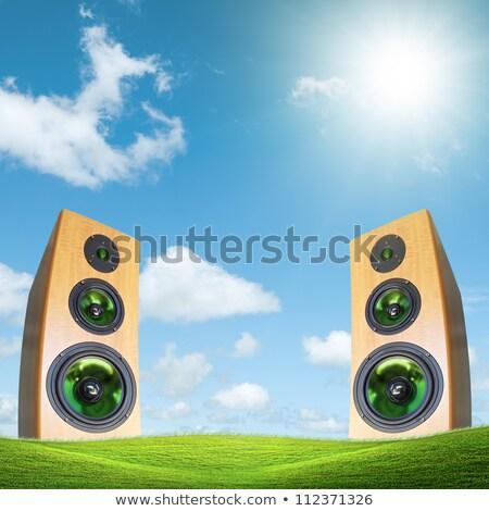 Stockfoto: Partij · buiten · huis · vierkante · hemel · natuur