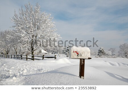 snow covered mailbox Stock photo © tdoes