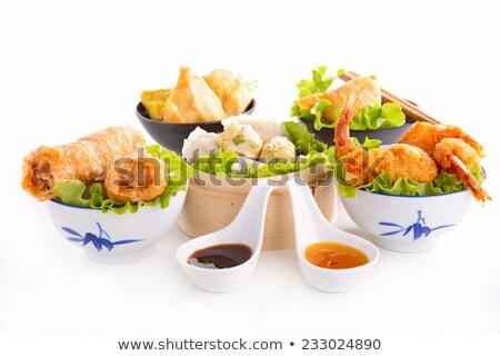жареный · креветок · азиатских · столовой · еды - Сток-фото © m-studio