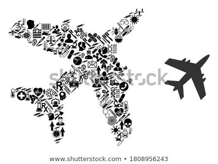 avion · mosaïque · avion · énergie · pouvoir · volée - photo stock © animacad