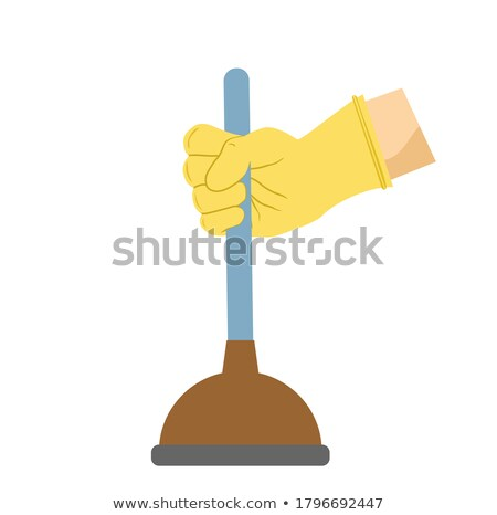 craftsman holding a plunger Stock photo © photography33
