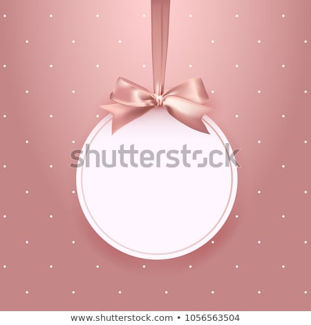 Blank Gift Tag With Pink Bow Stock photo © adamson