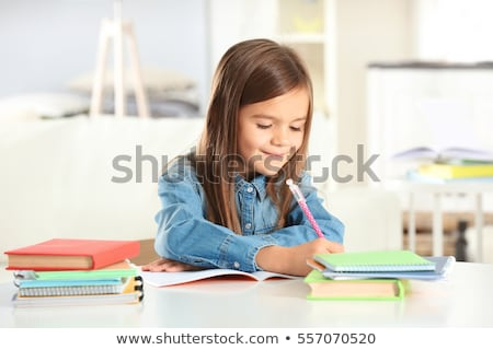 little kid studying stock photo © photography33