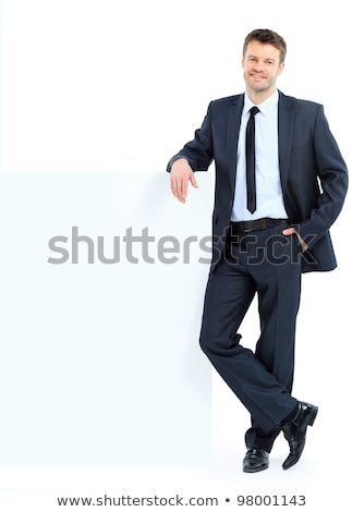 Businessman with empty board stock photo © WaD