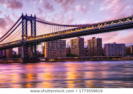 brooklyn bridge in the evening stock photo © mikdam