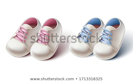 congratulations with a boy card with small sport shoes Stock photo © compuinfoto