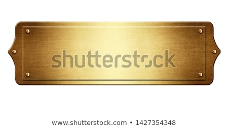gold plaque Stock photo © clearviewstock