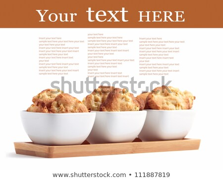 Freshly baked apple cookies in three white bowls Stock photo © olinkau