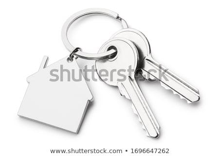 дома ключевые изолированный белом доме белый окна Сток-фото © shutswis
