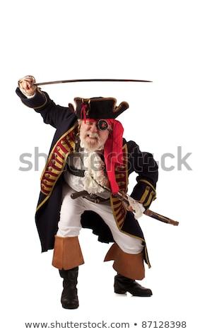 Ameaçador pirata espada 3d render mar Foto stock © AlienCat