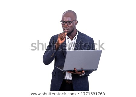 Bald businessman scared by laptop Stock photo © photography33