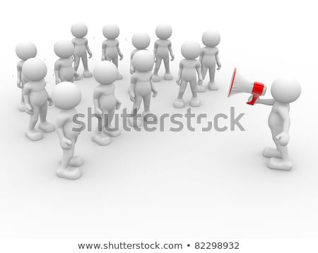 3d · pessoas · megafone · branco · negócio · telefone · homem - foto stock © Quka