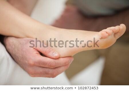 лодыжка пациент врач медицинской ухода Сток-фото © wavebreak_media