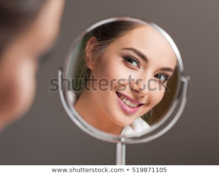 Gyönyörű nő tükörrel Stock fotó © lithian