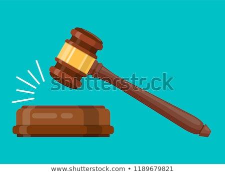 Foto stock: Juez · martillo · imagen · negocios · madera