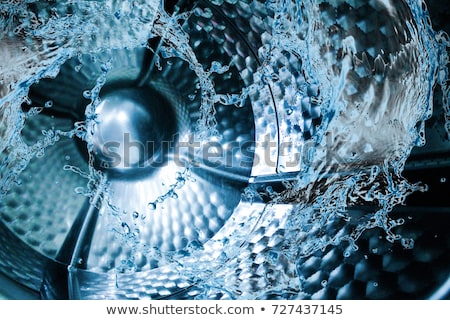 primo · piano · lavatrice · porta · vuota · tamburo · finestra - foto d'archivio © albund