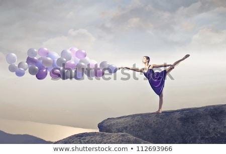 ダンス 位置 白 女性 ストックフォト © wavebreak_media