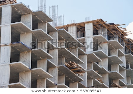 Concrete construction site of new building Stock photo © stockyimages