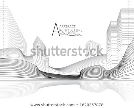 Stad project 3d render afbeelding business abstract Stockfoto © ixstudio