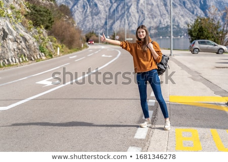 beautiful hitchhiker Stock photo © ssuaphoto
