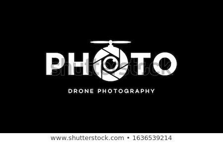 Olho fotografia logotipo negócio filme folha Foto stock © shawlinmohd