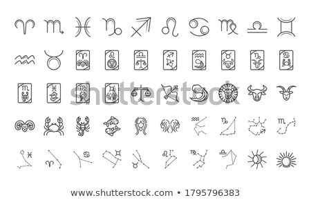 Zodiac icons stock photo © carbouval