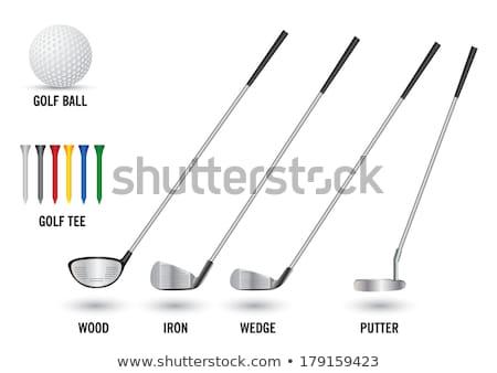 Golf golfütők részlet különböző absztrakt sportok Stock fotó © CaptureLight