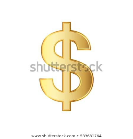 Arany dollár szimbólum fém bank piac Stock fotó © taiyaki999