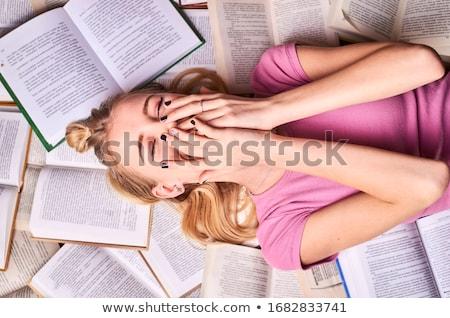 Stock photo: many books