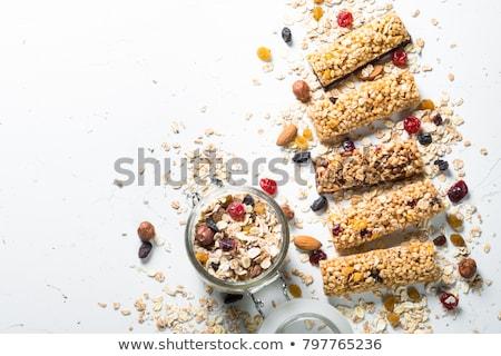 granola · bár · hozzávalók · egészséges · édes · desszert - stock fotó © mkucova