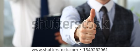 Service Man Approving with Thumbs Up Stock photo © 805promo