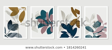 Leaves On The Wall Stock photo © cosma