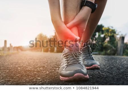 Kostka szkoda urazy sportowe kobieta zdrowia muzyka Zdjęcia stock © BVDC