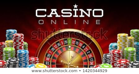 Casino Poker banner, vector illustration Stock photo © carodi