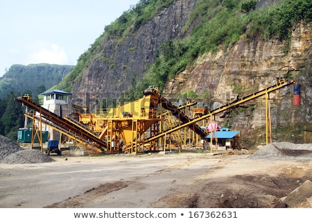 Helyszín sóder domb repülőgép építkezés Föld Stock fotó © meinzahn