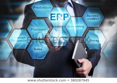 Enterprise Resource Planning ERP Word Cloud Stock photo © burakowski