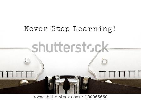 никогда · остановки · обучения · онлайн · образование · для · взрослых · знания - Сток-фото © ivelin
