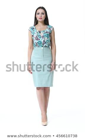 Sırf bluz güzel kadın çıplak kız Stok fotoğraf © disorderly