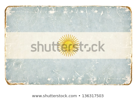 zászló · Argentína · retró · stílus · tökéletes · különböző - stock fotó © lenaberntsen