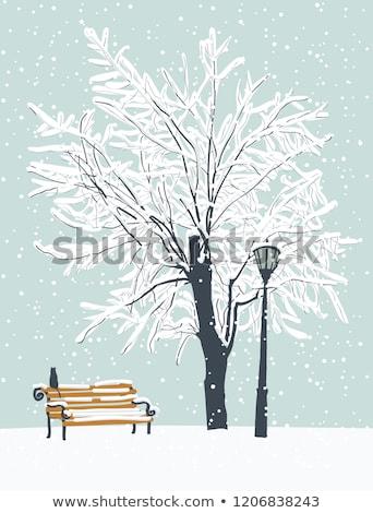 雪 · カバー · 建設 · 背景 · 冬 - ストックフォト © meinzahn