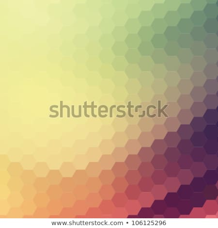 Cyfrowe sześciokąt mozaiki streszczenie jasne Zdjęcia stock © sidmay