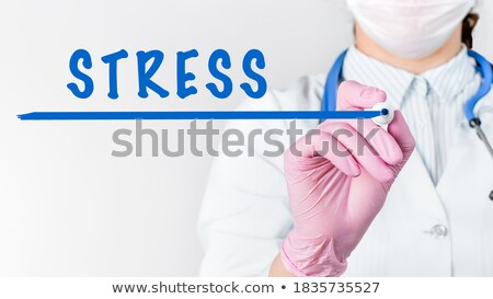 Anxiety Blue Marker Stock photo © ivelin