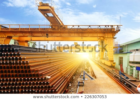 crane loading sheet steel stock photo © mady70