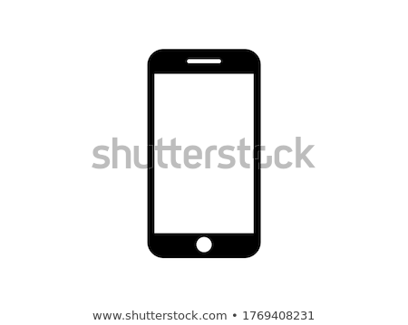 telefone · ícone · escuro · azul · isolado · preto - foto stock © zeffss