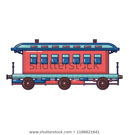 Vonat közelkép oldalnézet citromsárga útvonal szállítás Stock fotó © Frankljr